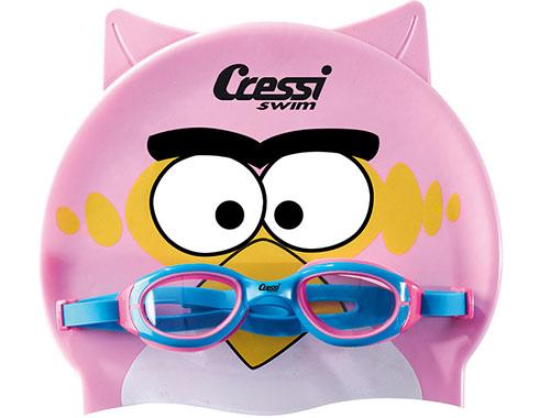 de361aa0f1f Комплект шапка и очила за плуване Kid Set Cressi   Sportmania
